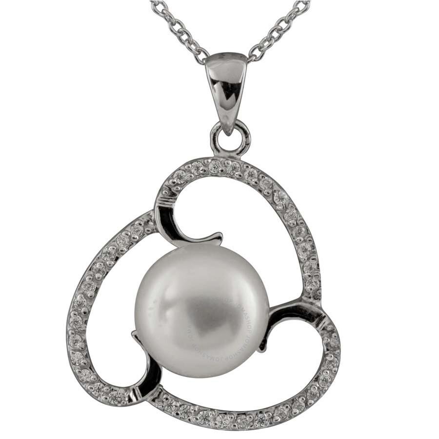Bella Pearl Sterling Silver Triple Swirl Pearl Pendant NSR-249
