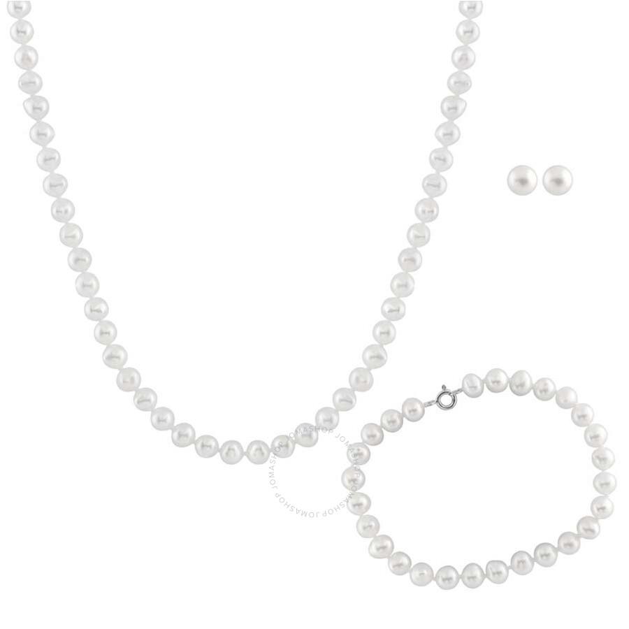 Bella Pearl White Freshwater Pearl Jewelry Set FGS-31