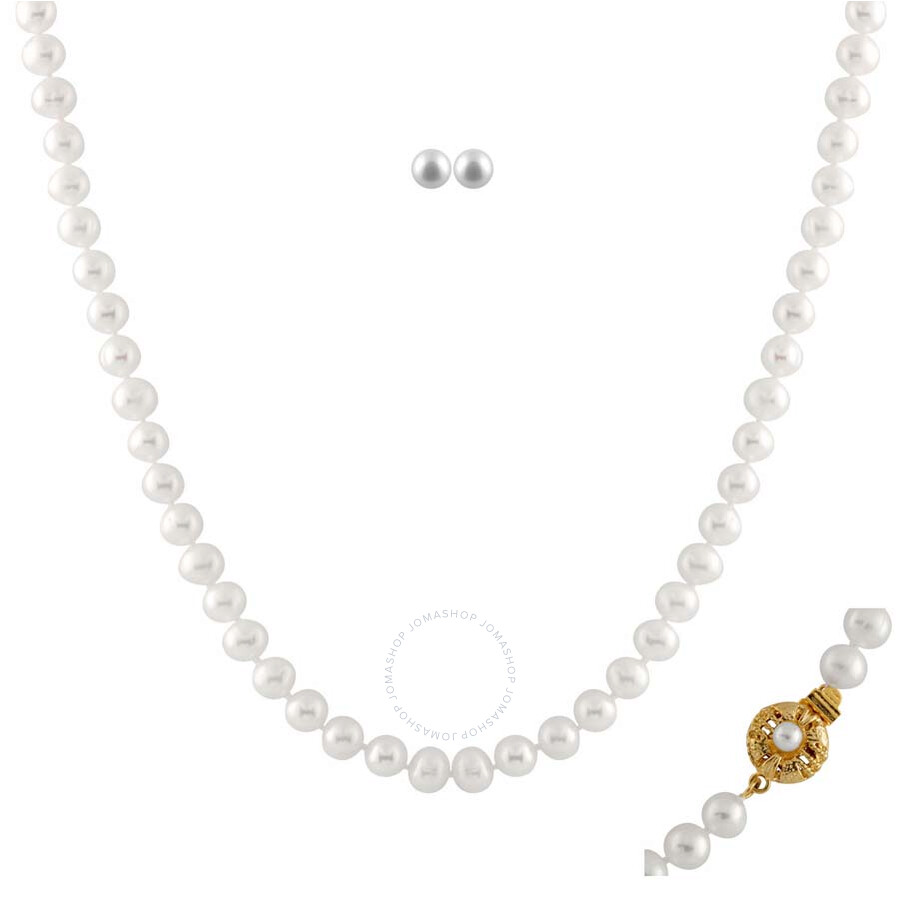 Bella Pearl White Freshwater Pearl Jewelry Set FGS-41