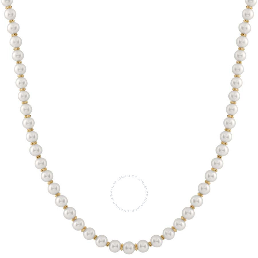 Bella Pearl White Freshwater Pearl Single Strand Necklace