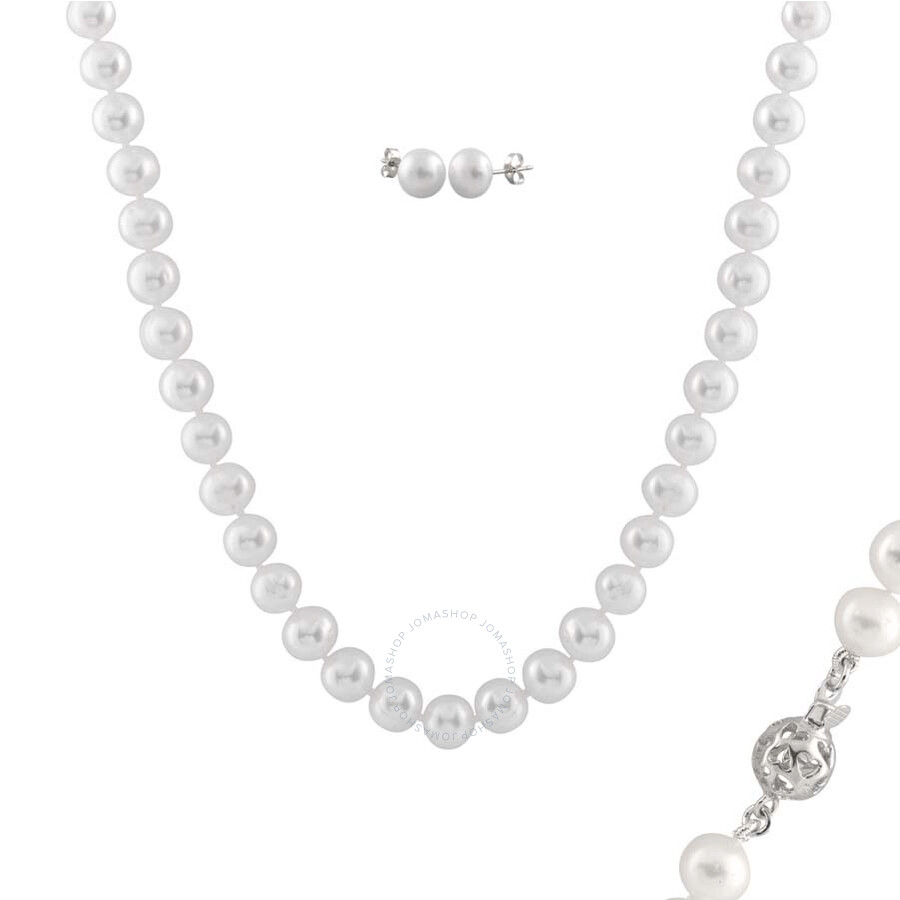 Bella Pearl White Pearl Jewelry Set FGS-57