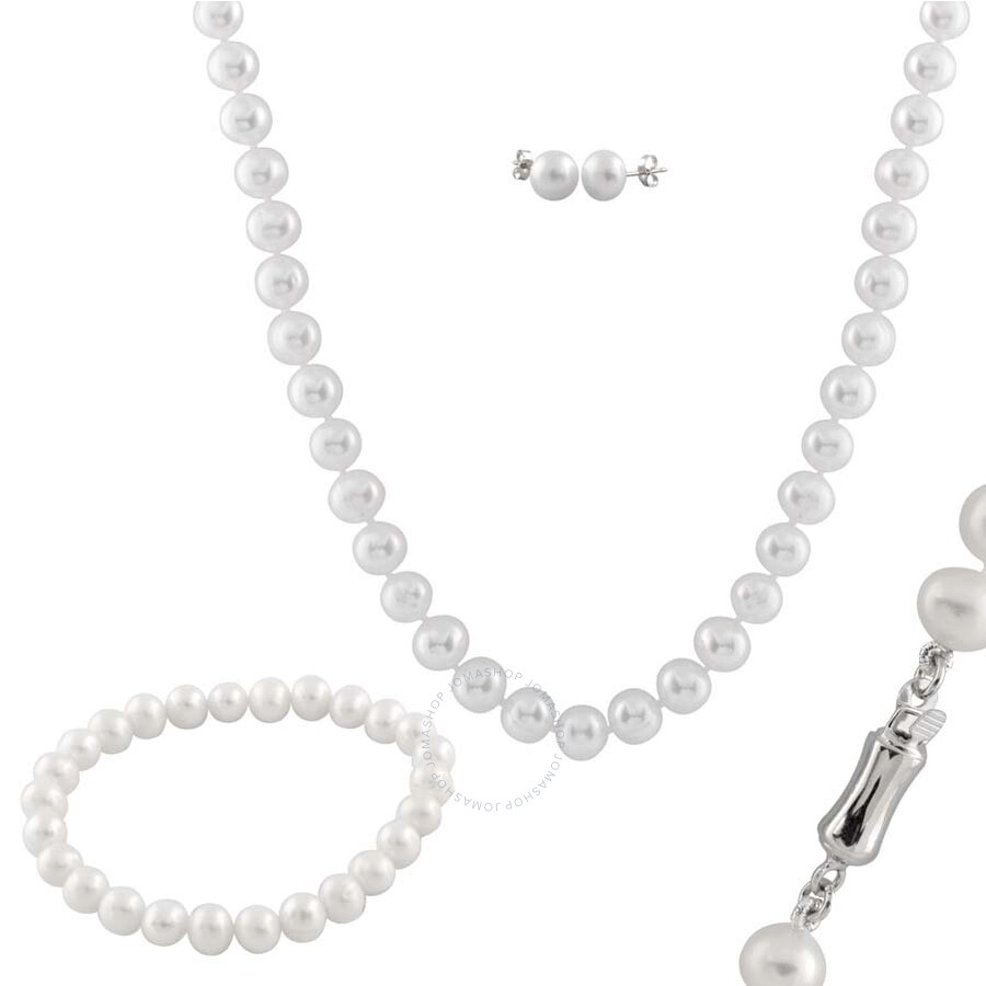Bella Pearl White Pearl Jewelry Set FGS-58