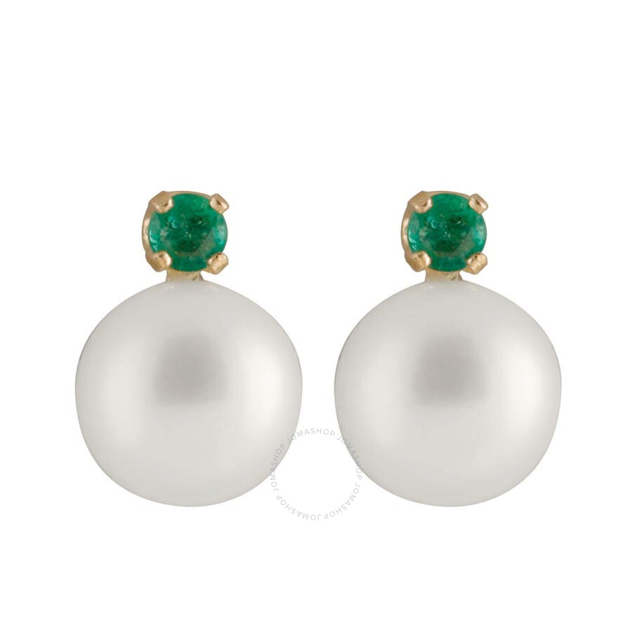 Bella Pearl White Round Freshwater Earrings RB-7EY
