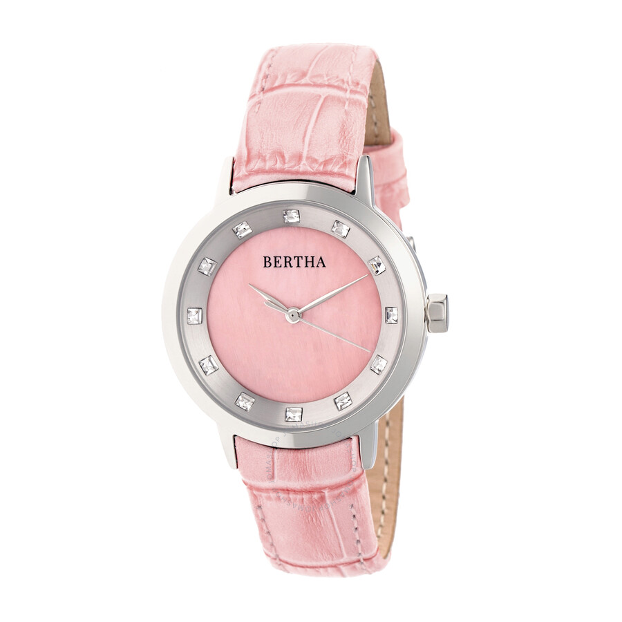Bertha Cecelia Pink Dial Ladies Watch BR7502 - Bertha - Watches ...
