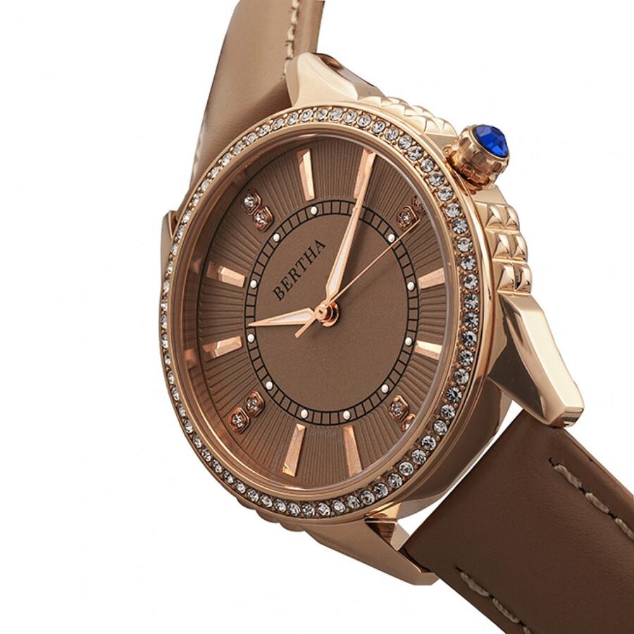 Bertha clara crystal ladies watch br8105 bertha watches jomashop for Crystal ladies watch