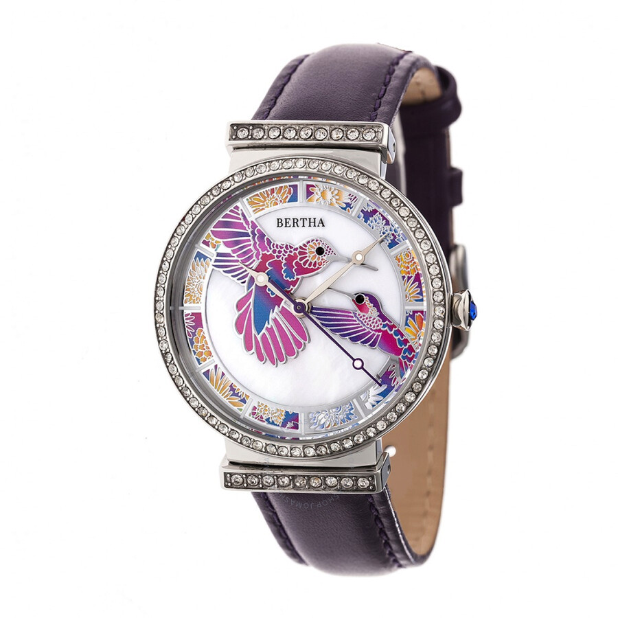 Bertha emily crystal ladies watch br7805 bertha watches jomashop for Crystal ladies watch