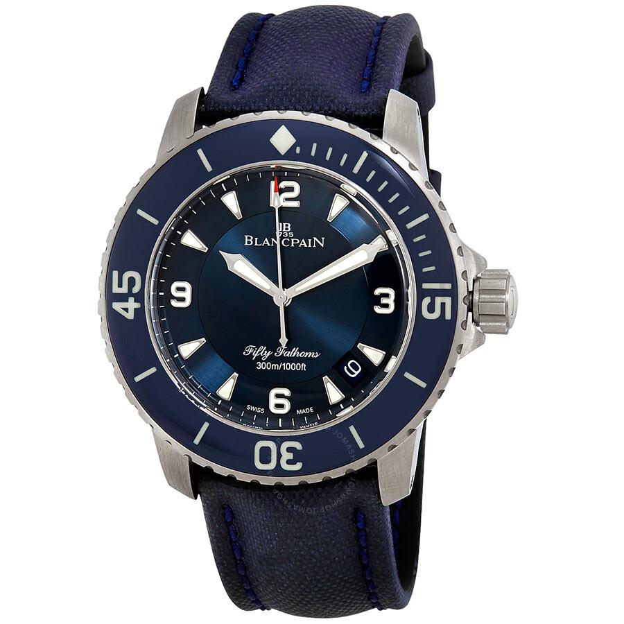 Blancpain Fifty Fathoms Automatic Blue Dial Mens Watch 5015-12B40-O52A