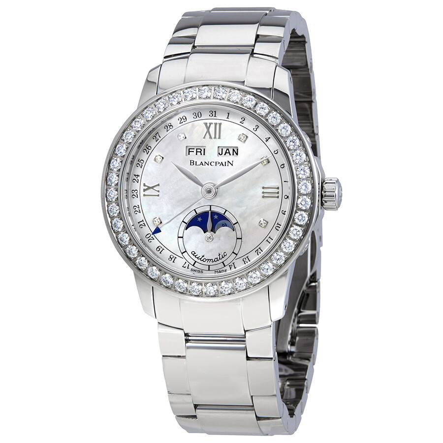 blancpain female blancpain leman mother of pearl dial automatic ladies watch 23604691a71a
