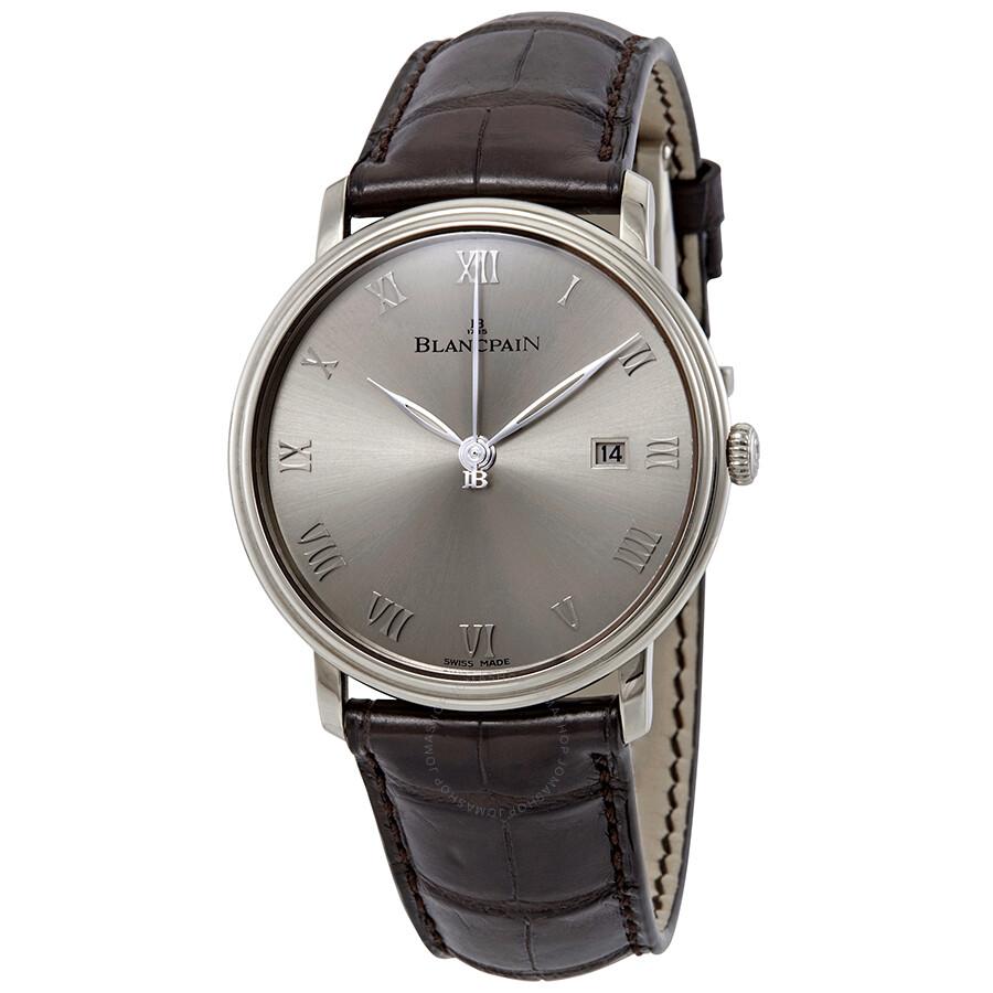 Blancpain Villeret Automatic Sunburst Grey Dial Automatic Mens Watch 6651-15..