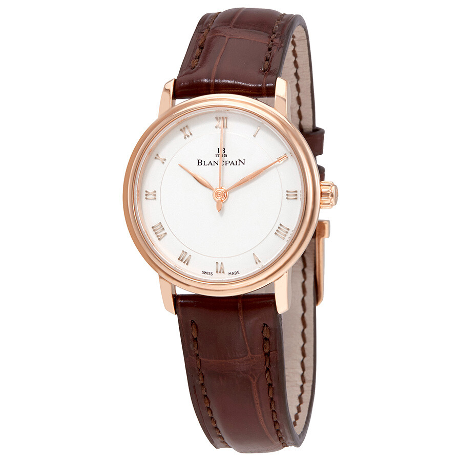 blancpain female blancpain villeret opaline dial 18k rose gold automatic ladies watch 6102364255a