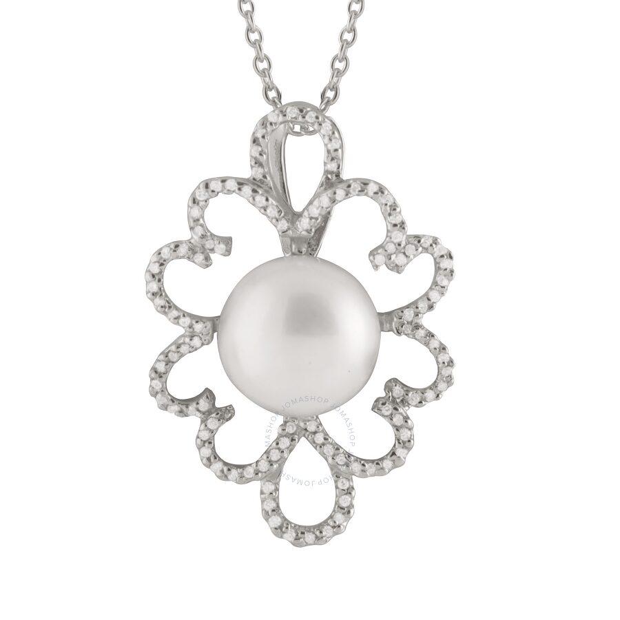 Bella Pearl Sterling Silver Floral Shaped Pendant NSR-201