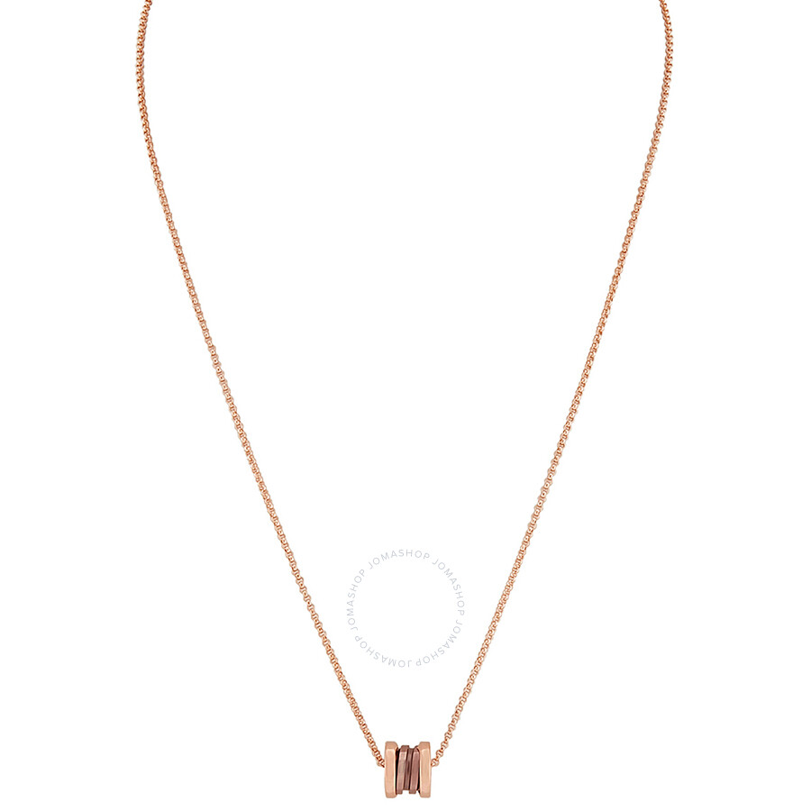 Blvgari B.Zero1 18K Rose Gold Pendant with Cermet 353004