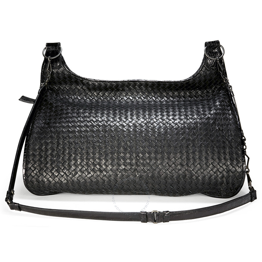 Bottega Veneta Woven Black Leather Extra-Large Shoulder Bag