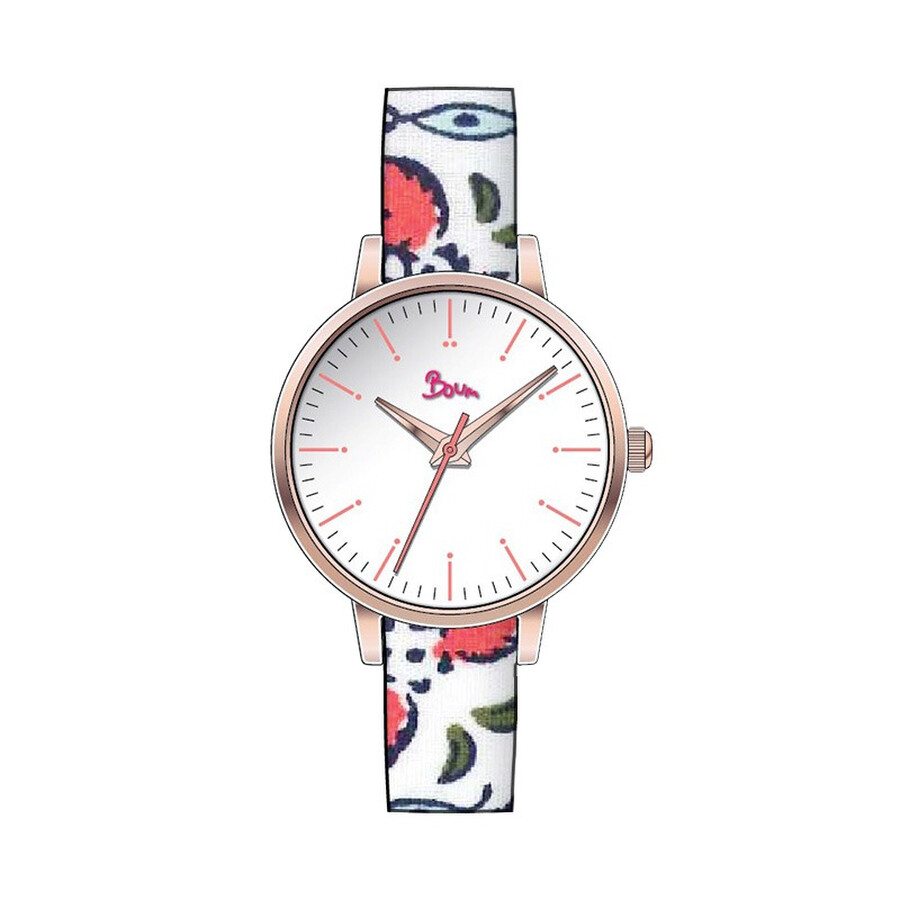 Boum Arc White Dial Ladies Watch BM5004