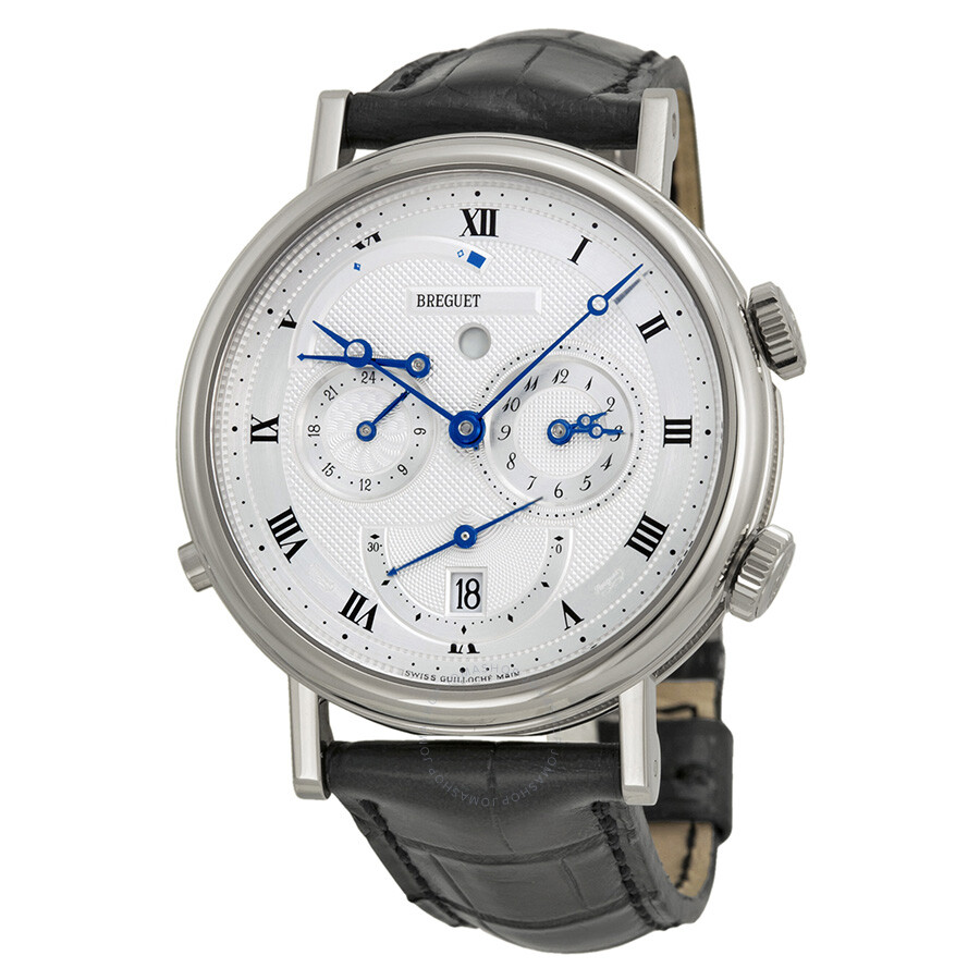Breguet Classique Alarm White Gold Mens Watch 5707BB129V6