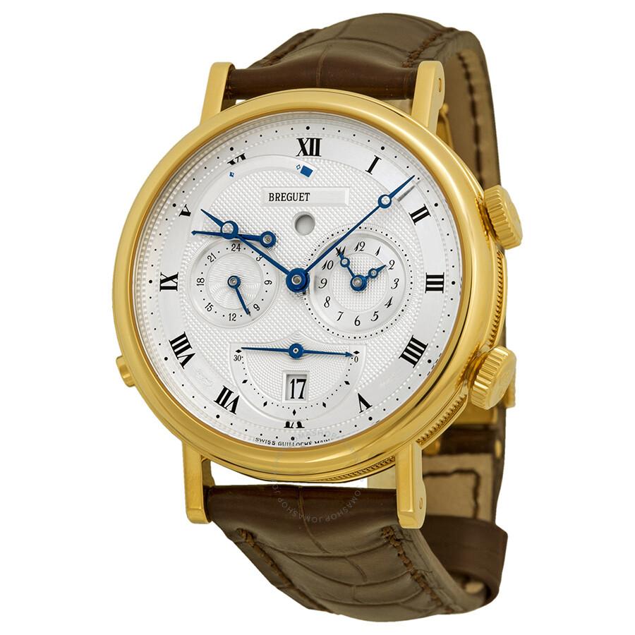 Breguet Classique Alarm Yellow Gold Mens Watch 5707BA129V6