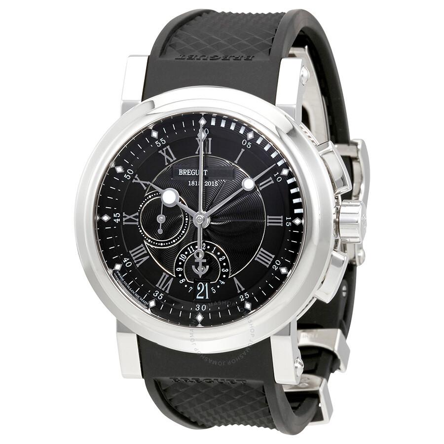 Breguet Marine 5823 Chronograph Platinum Automatic Mens Watch 5823PTH25ZU