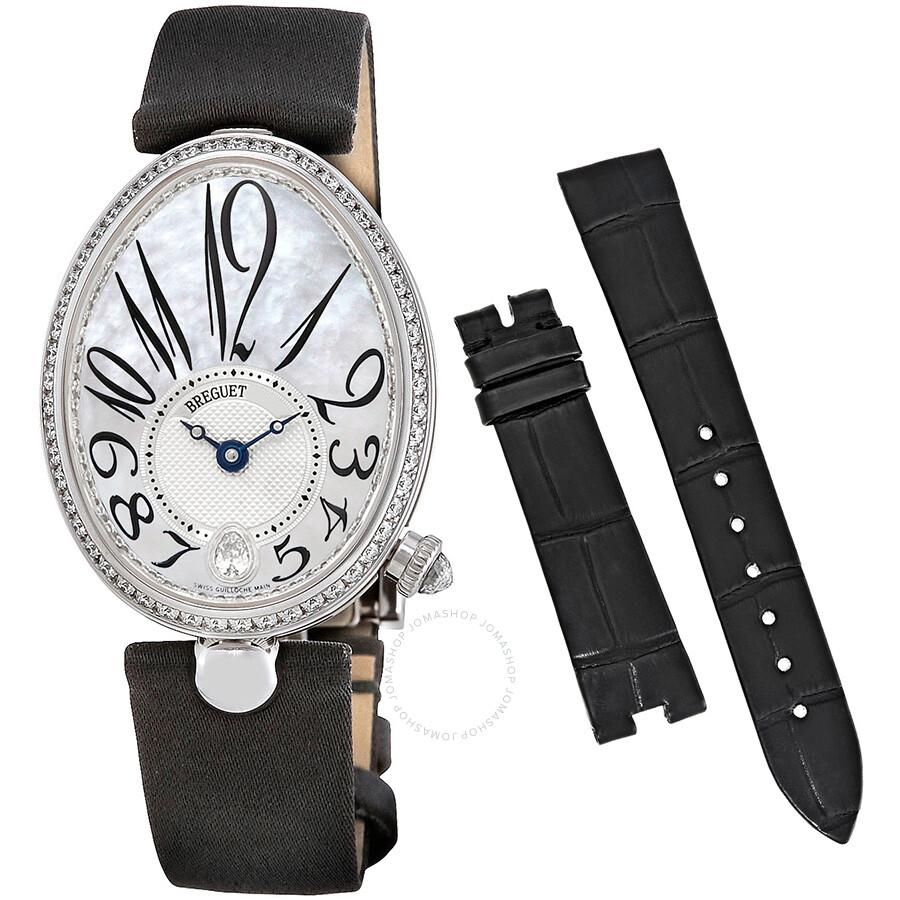 Breguet Reine De Naples Mother of Pearl Dial Diamond Automatic Ladies Watch ..