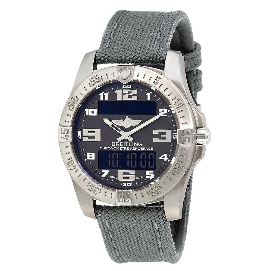 Breitling Aerospace Evo Grey Dial Grey Canvas Mens Watch E7936310/F562GCVT