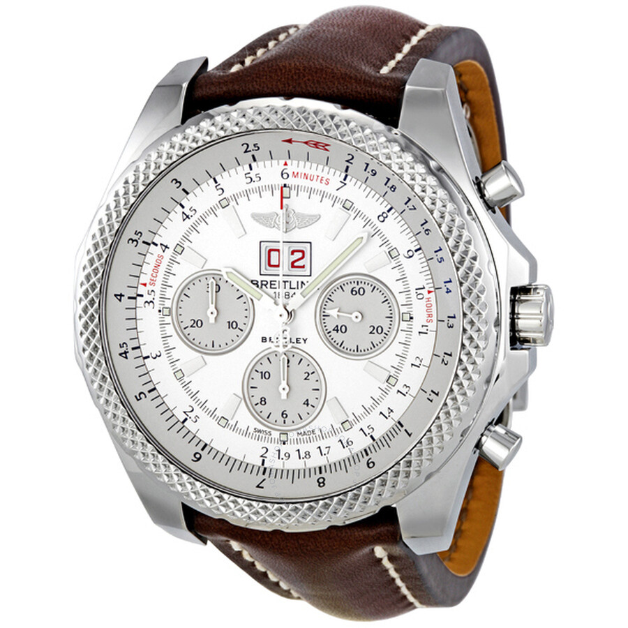 mens white by breitling bentley steel chronograph ss stainless