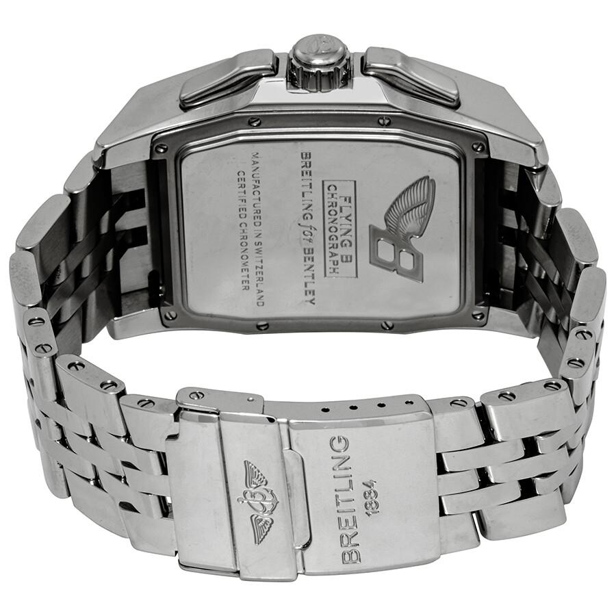 breitling chronograph watch dial mens chronometer i bentley motors grey
