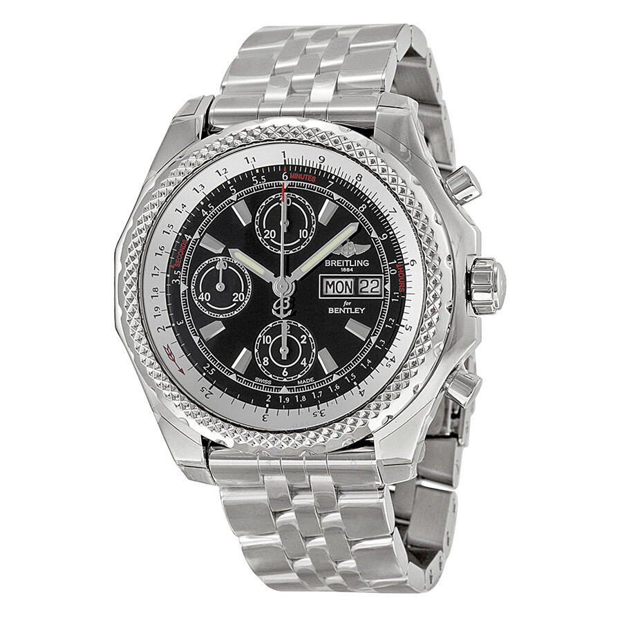 gmt steel silver breitling stainless bentley dial s men mens watch chronograph