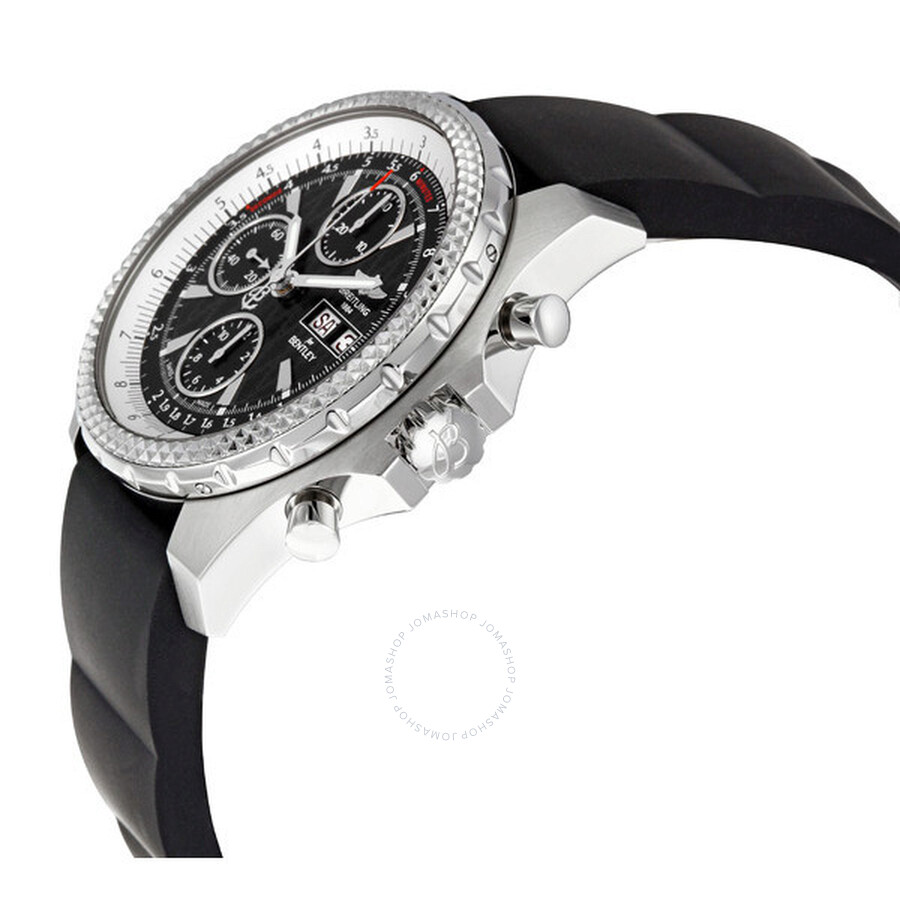 Breitling Bentley GT Racing Black Dial Black Rubber Strap