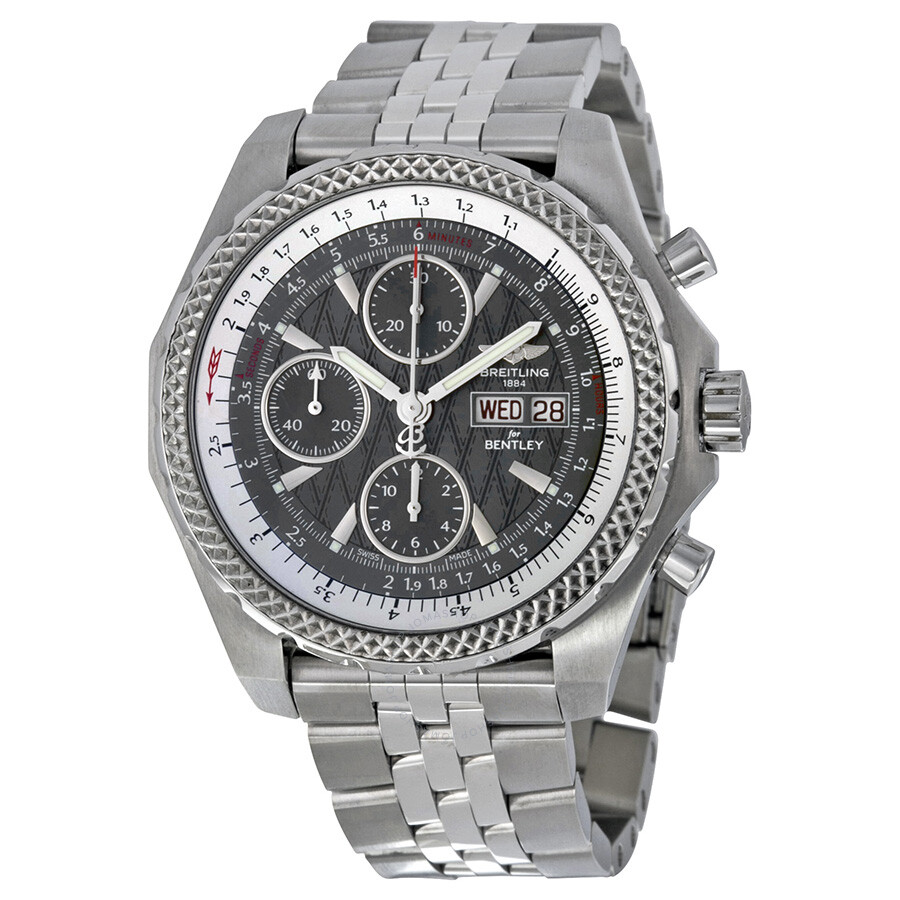 chronograph stainless bentley breitling men steel motors s