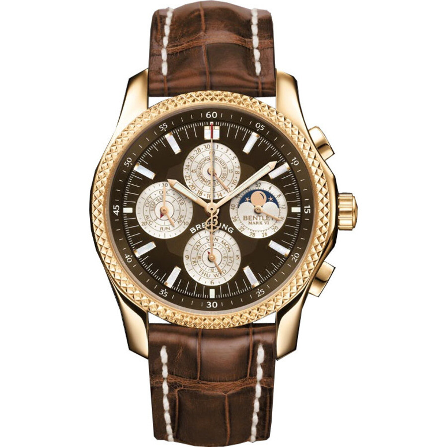 Breitling Bentley Mark VI Brown Dial Chronograph Mens Watch H2936312-Q539BRCT