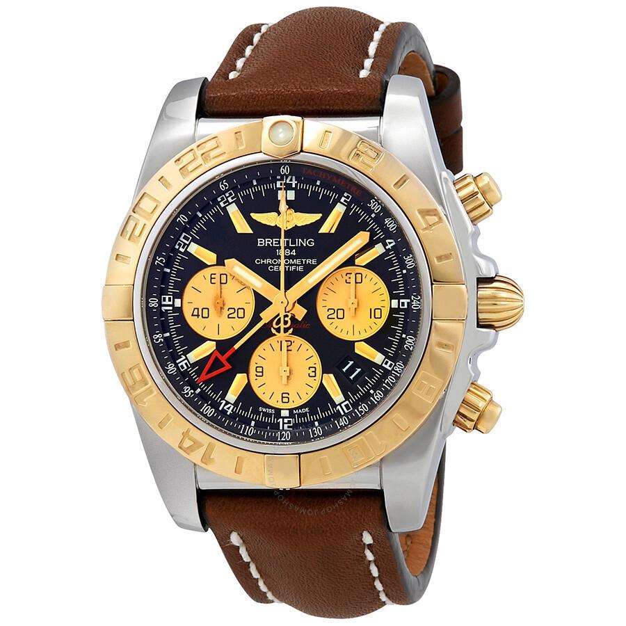 Breitling chronomat chronograph automatic black dial men 39 s watch cb042012 bb86 437x chronomat for Breitling automatic