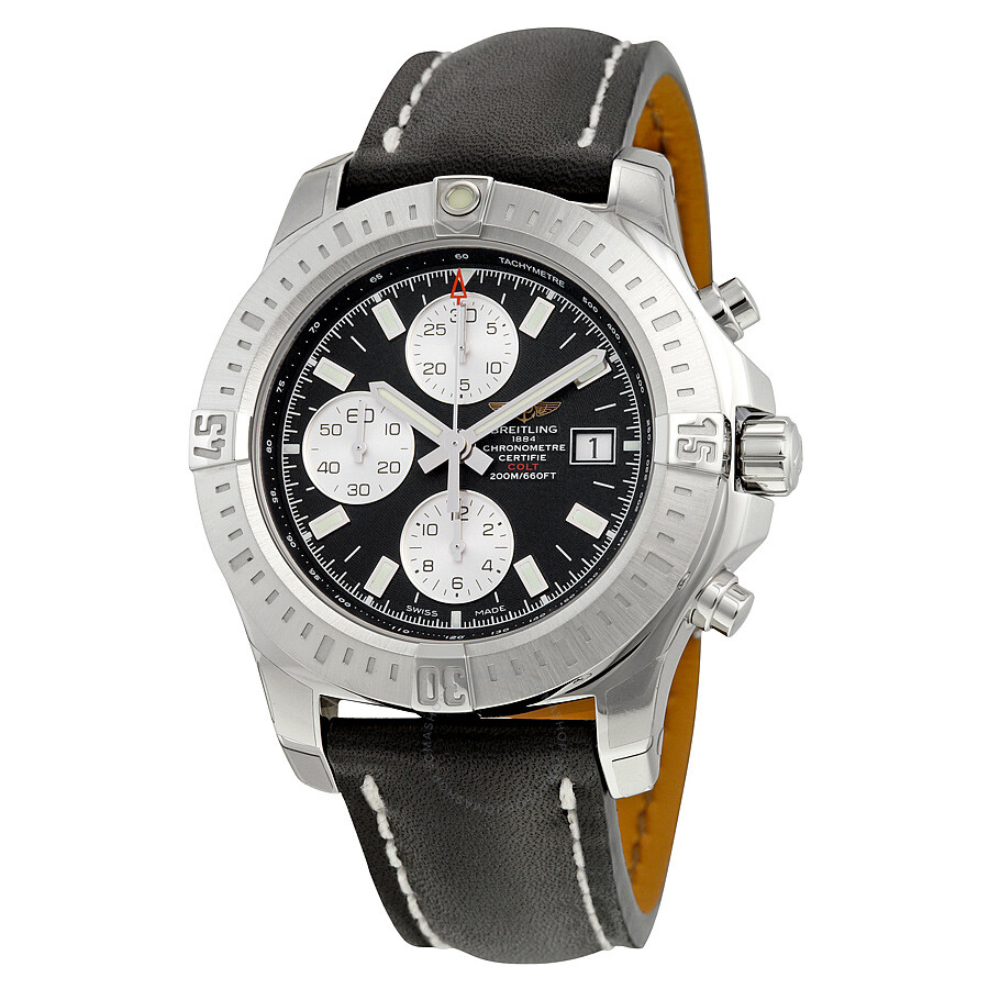 Breitling colt chronograph automatic black dial men 39 s watch a1338811 bd83bkld colt breitling for Breitling automatic