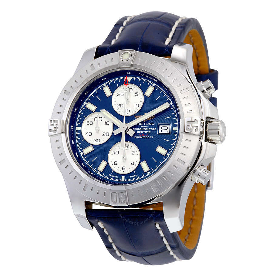 breitling colt chronograph automatic blue dial blue leather men 39 s watch a1338811 c914blct colt. Black Bedroom Furniture Sets. Home Design Ideas
