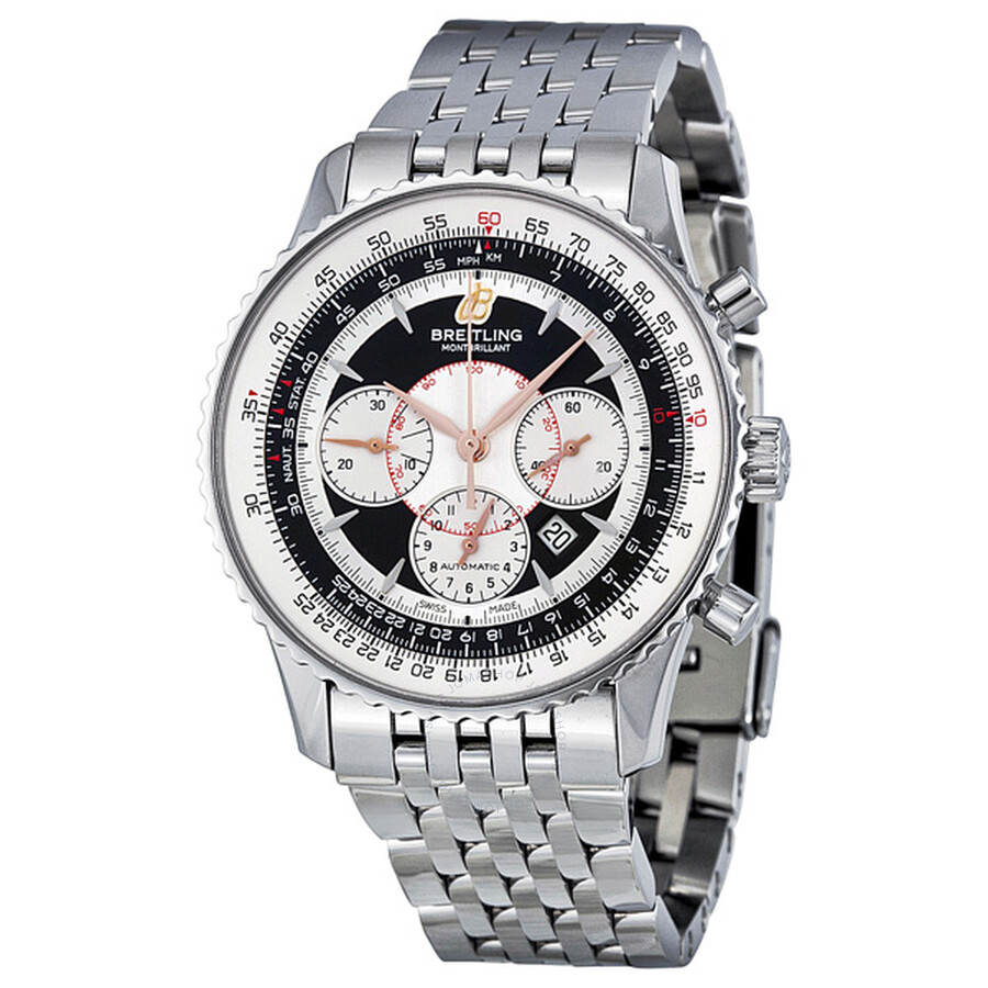 Breitling Montbrillant Chronograph Automatic Black Dial Mens Watch A4137012-..