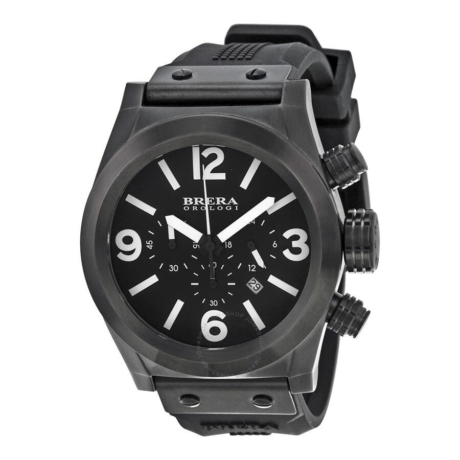 Brera Orologi Eterno Chrono Black Dial Mens Chronograph Watch BRETC4562