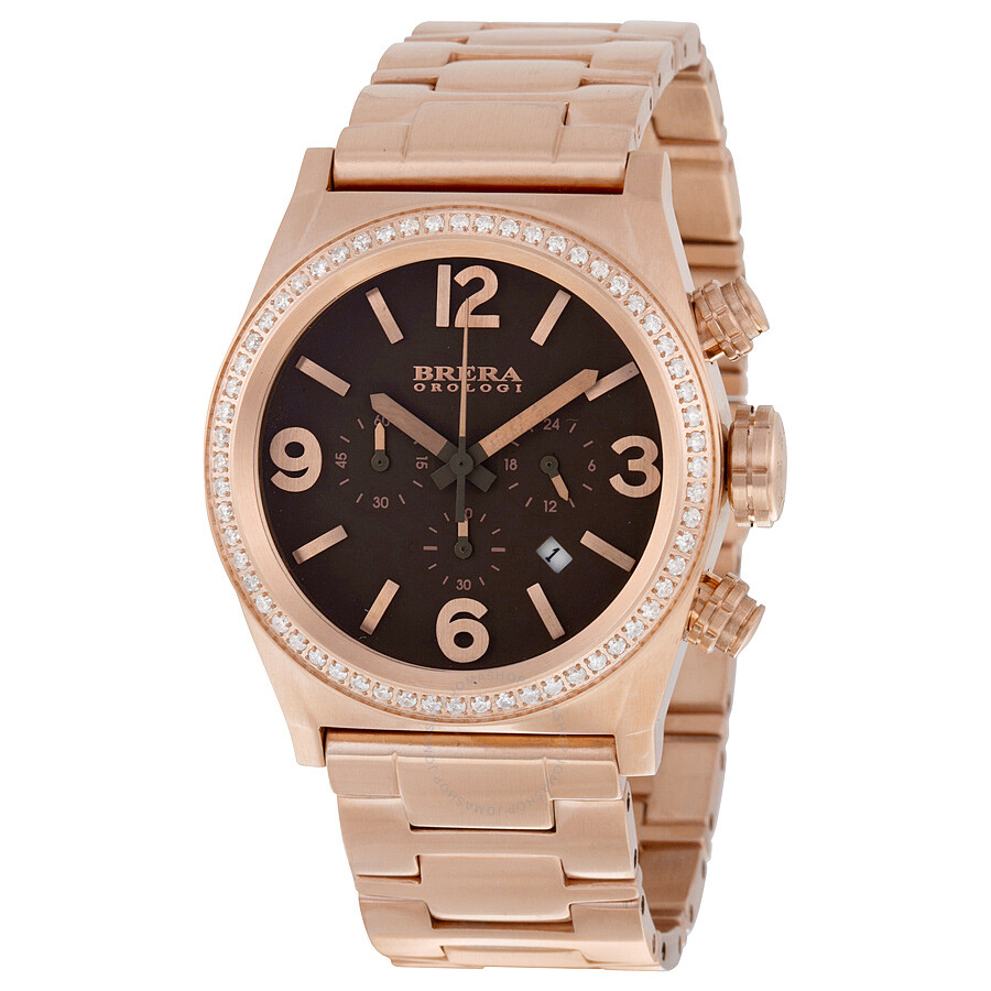 Brera Orologi Eterno Piccolo Brown Dial Rose Gold-plated Ladies Watch BRET2C3876