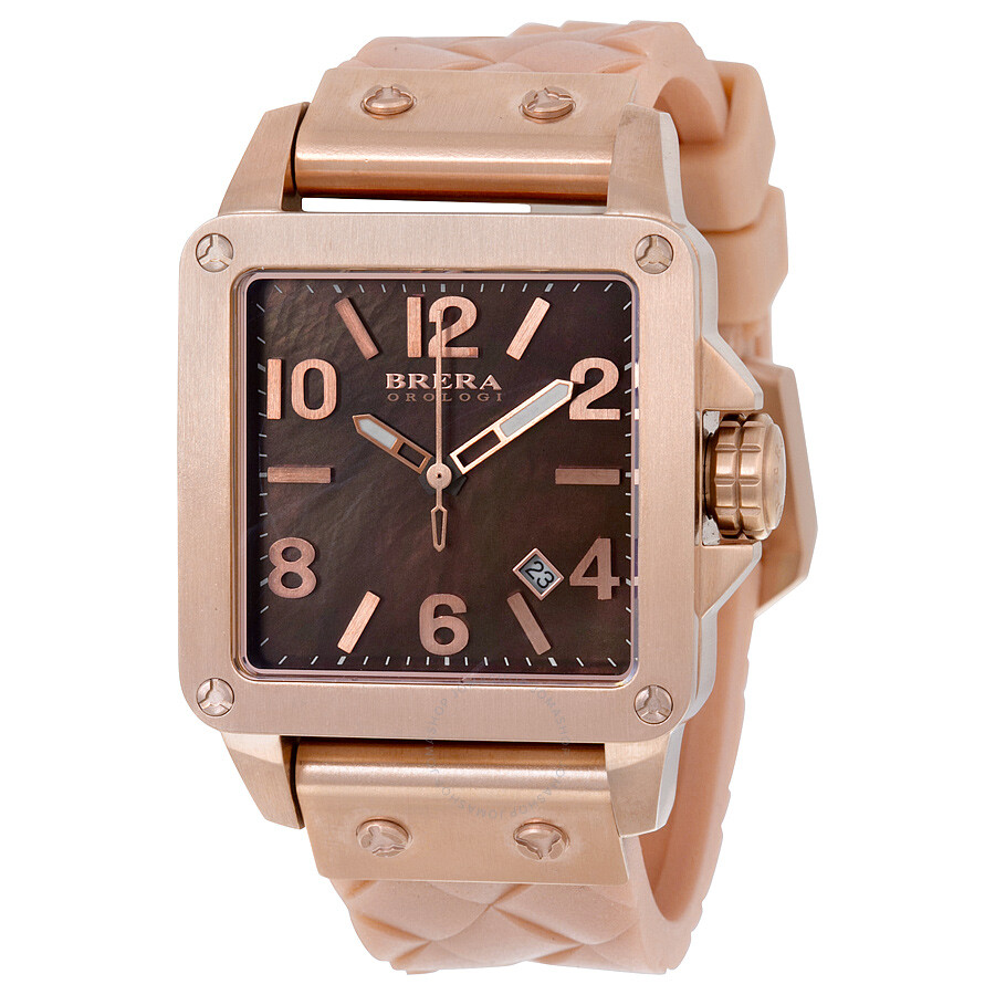 Brera Orologi Stella Brown Dial Rose Gold Ion-plated Ladies Watch BWST23544
