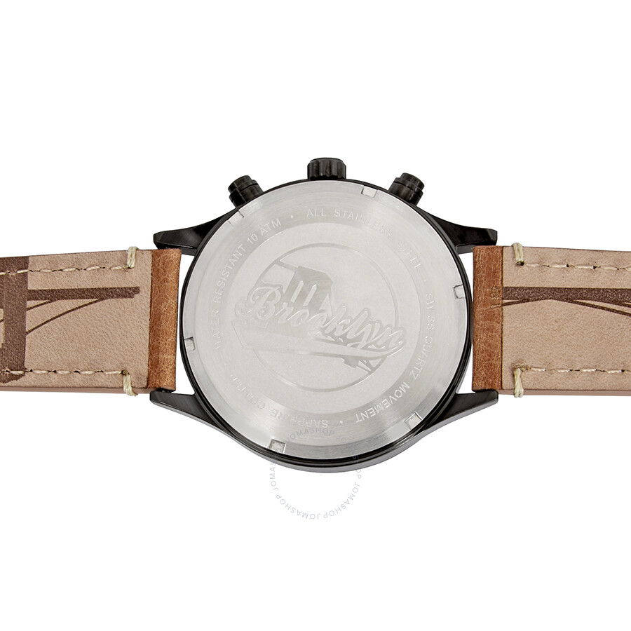 Brooklyn Watch Co. Bedford Brownstone Chronograph Black Dial Men\'s ...