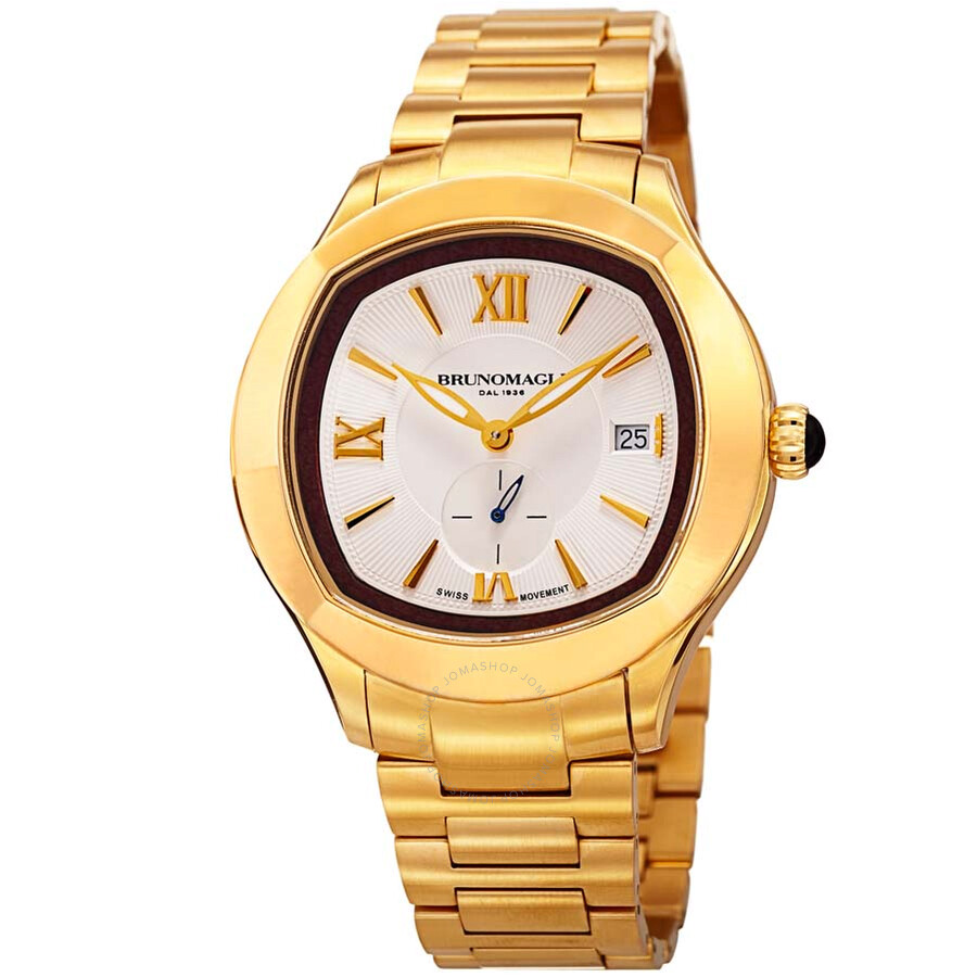 Bruno Magli Amadeo 1041 Swiss Quartz Cushion Bracelet Mens Watch