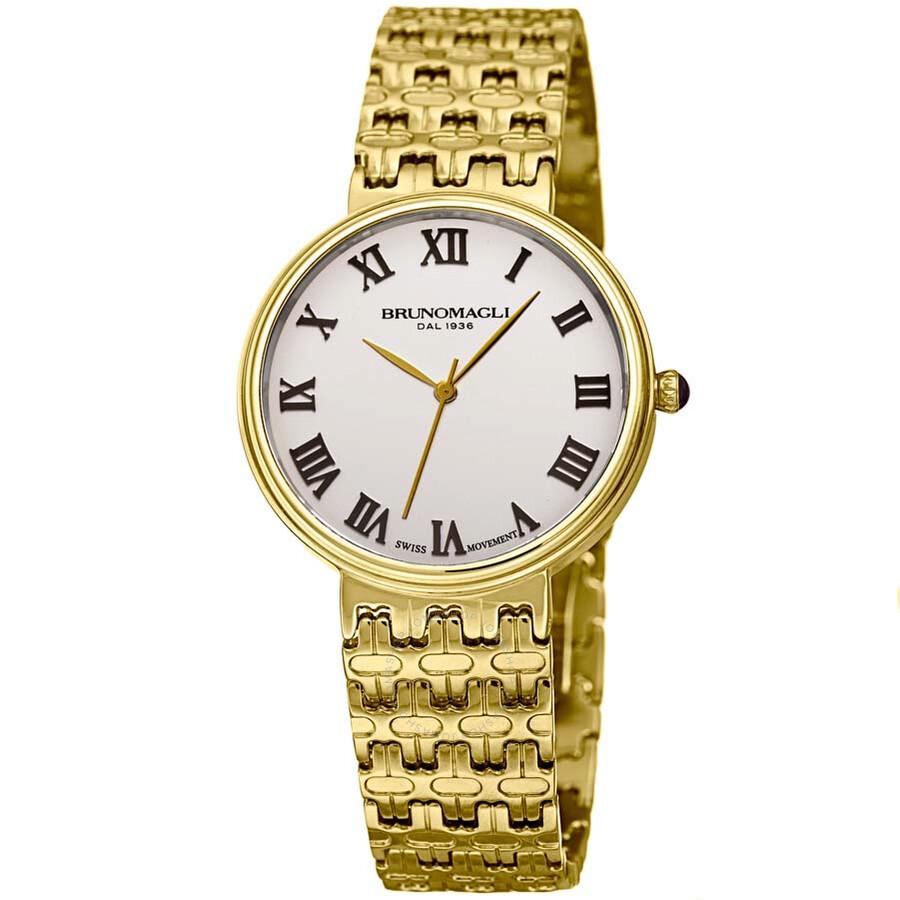 Bruno Magli Isabella Swiss Quartz M Link Bracelet Ladies Watch