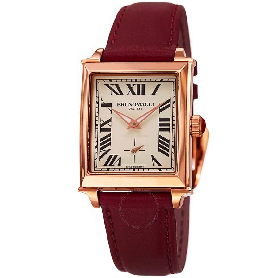 Bruno Magli Valentina Swiss Quartz Italian Leather Strap Ladies Watch