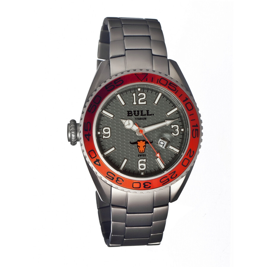 Bull Titanium Hereford Silver Dial Silver Titanium Mens Watch HR003