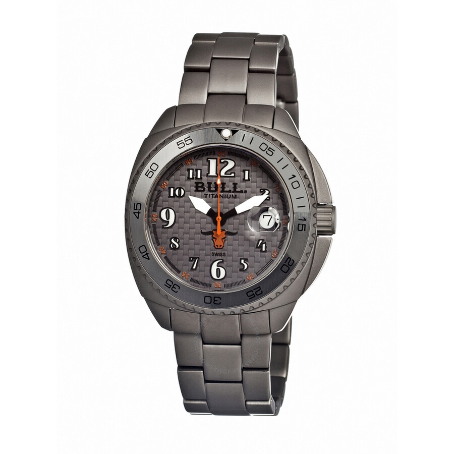 Bull Titanium Matador Grey Dial Grey Titanium Mens Watch MD003