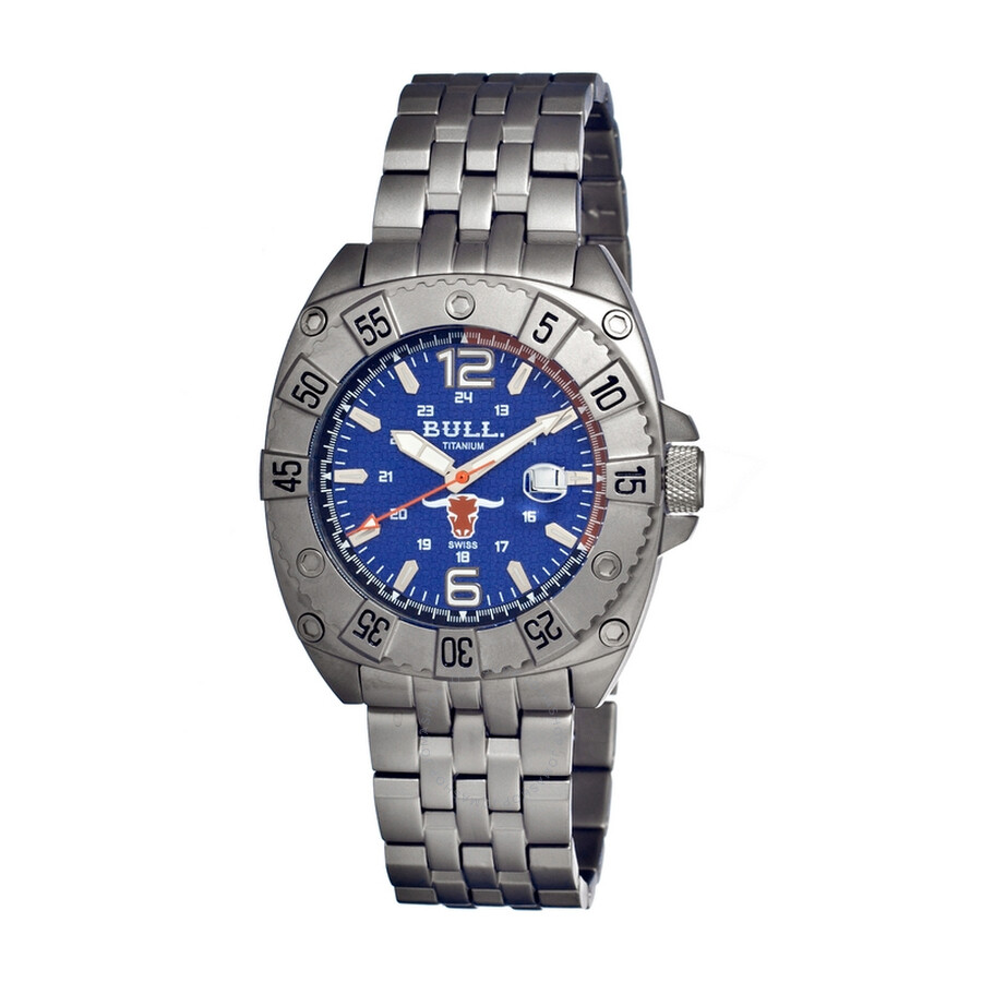 Bull Titanium Robust Navy Dial Grey Titanium Mens Watch RO004