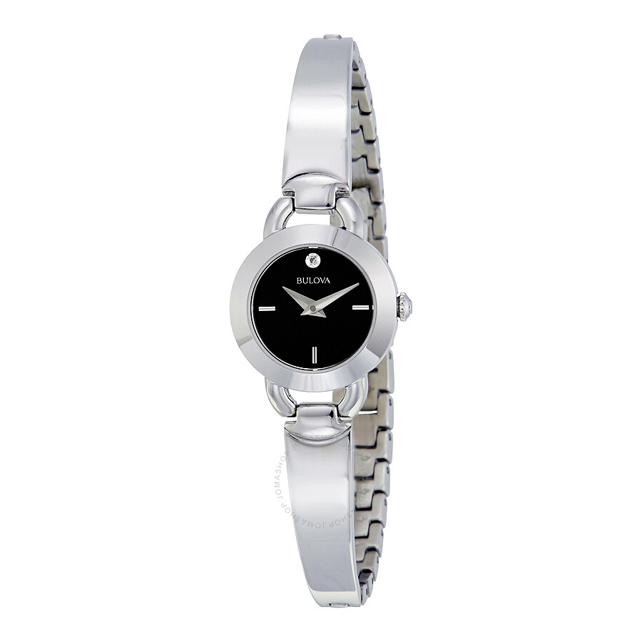 Bulova Black Dial Ladies Watch 96P155