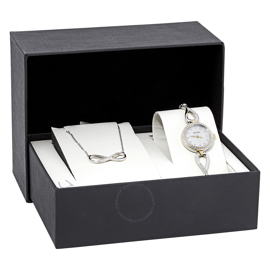 Bulova Crystal Ladies Watch and Neckless Set 98X109