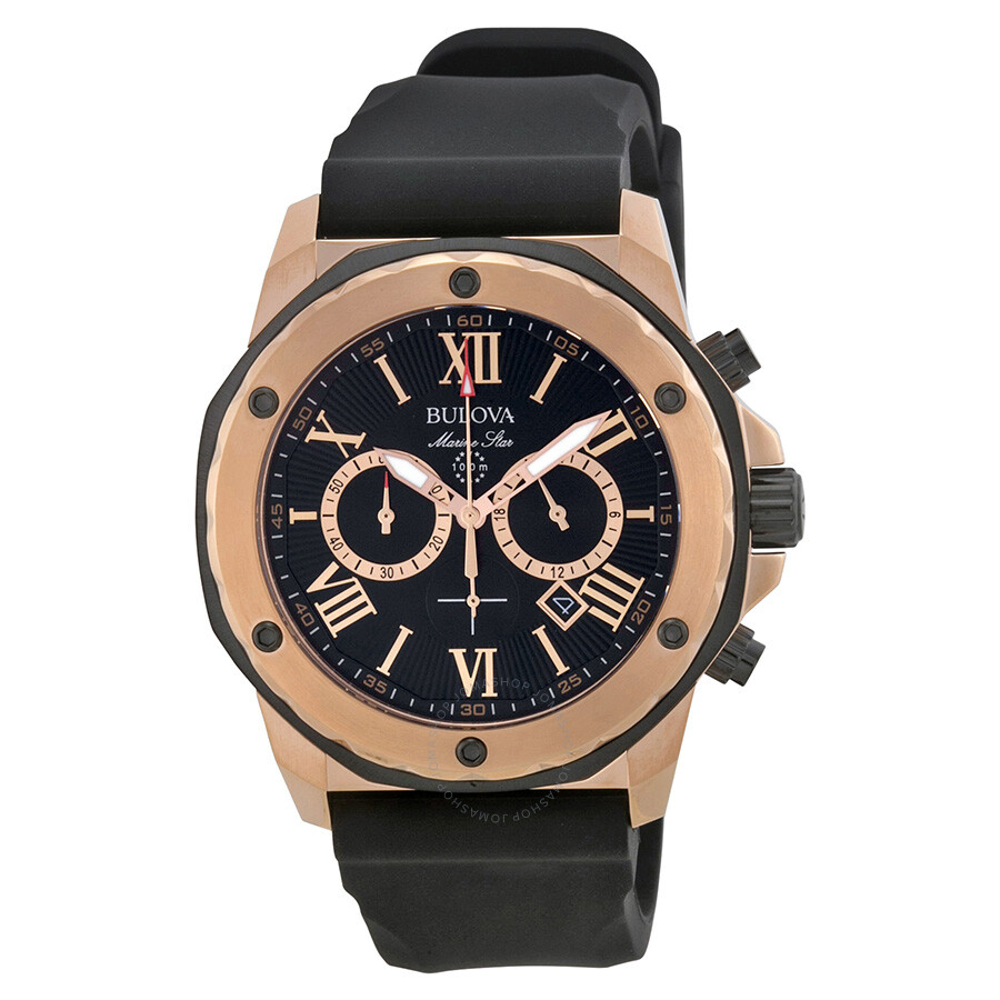 Bulova marine star men 39 s watch 98b104 marine star bulova watches jomashop for Watches bulova