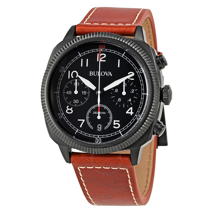 Bulova uhf chronograph black dial men 39 s watch 98b245 bulova watches jomashop for Watches bulova