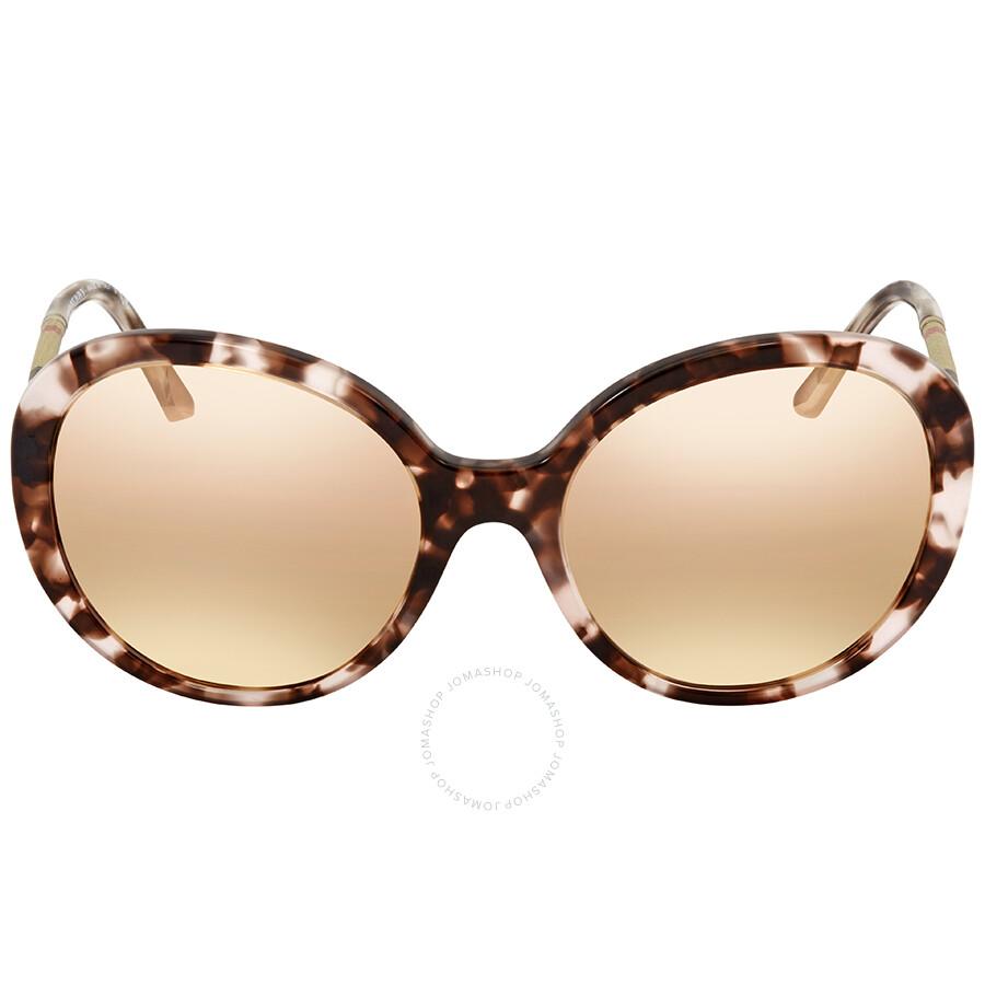 BURBERRY Burberry Damen Sonnenbrille » BE4239Q«, rosa, 36637J - rosa/ gold