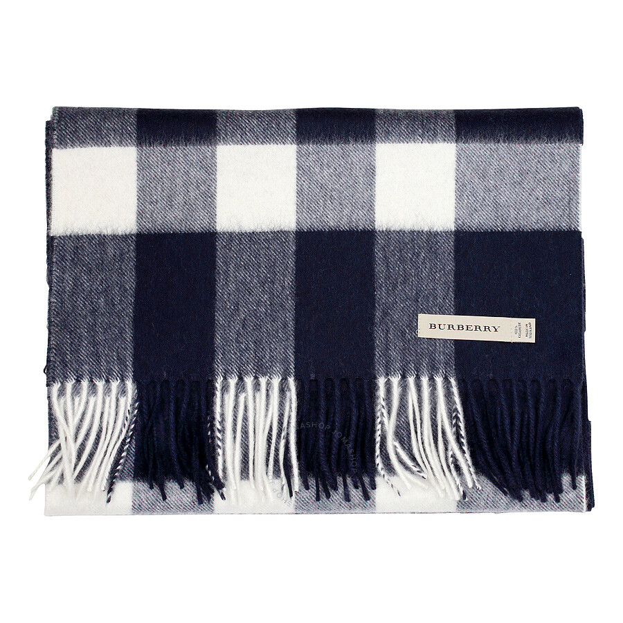 fc3dc8b603b95 ... sweden burberry giant exploded navy check cashmere scarf 5fa22 2a18f