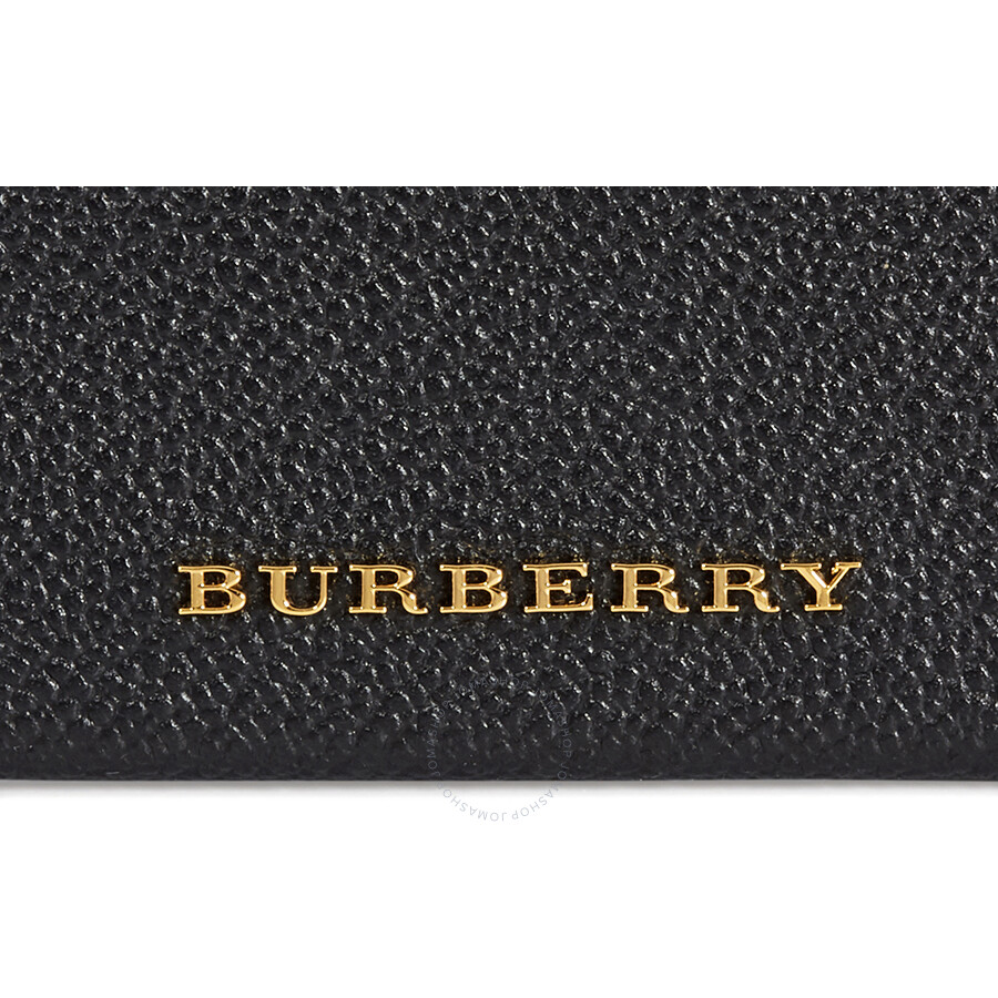 Burberry Haymarket Check and Leather Card Case- Black/ Multicolored ...